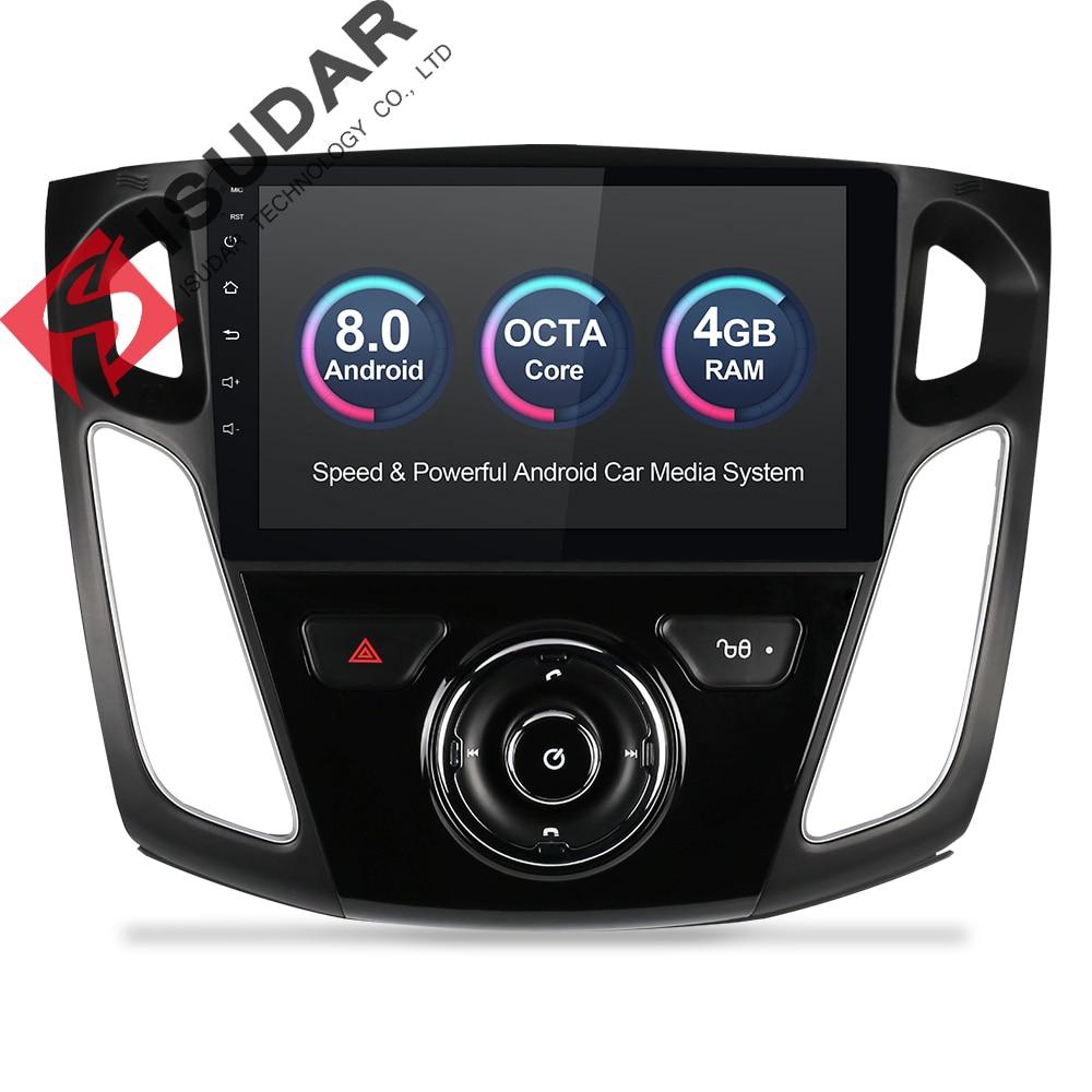 Isudar Sistema di Auto Multimedia player Android 8.0 GPS 1 Din Stereo Per Ford/Focus 3 2012-2014 DSP radio FM Octa Core 4 GB di RAM 4G