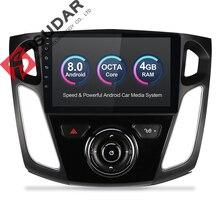 Isudar Автомобильный мультимедийный плеер Android 8,0 gps 1 Din стерео система для Ford/Focus 3 2012-2014 DSP радио FM Octa ядер 4 Гб оперативная память 4 г