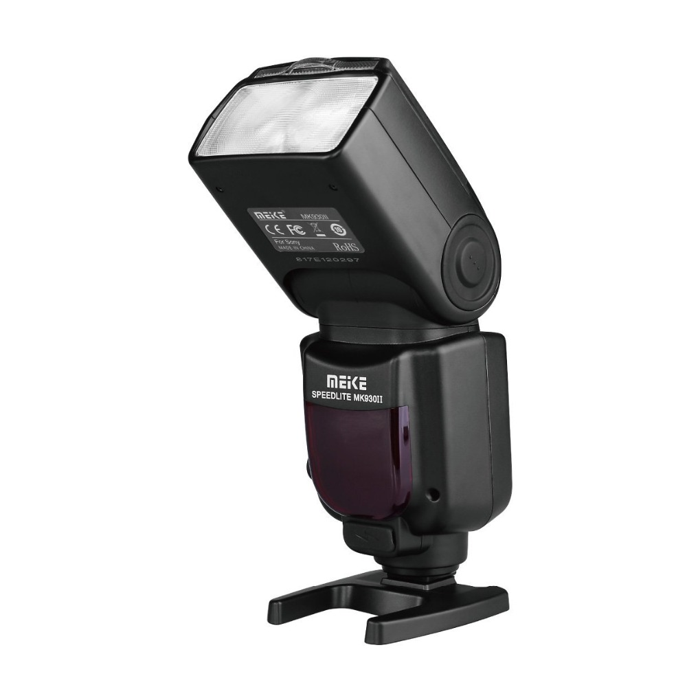 MEIKE MK-930II Professional Manual Adjustment Speedlite Flash for Sony Separate Contact Camera A7 A7R A7S A7II A7RII A7SII A6300 mennon gc 4in1 photography reference grey card set for manual white balance adjustment