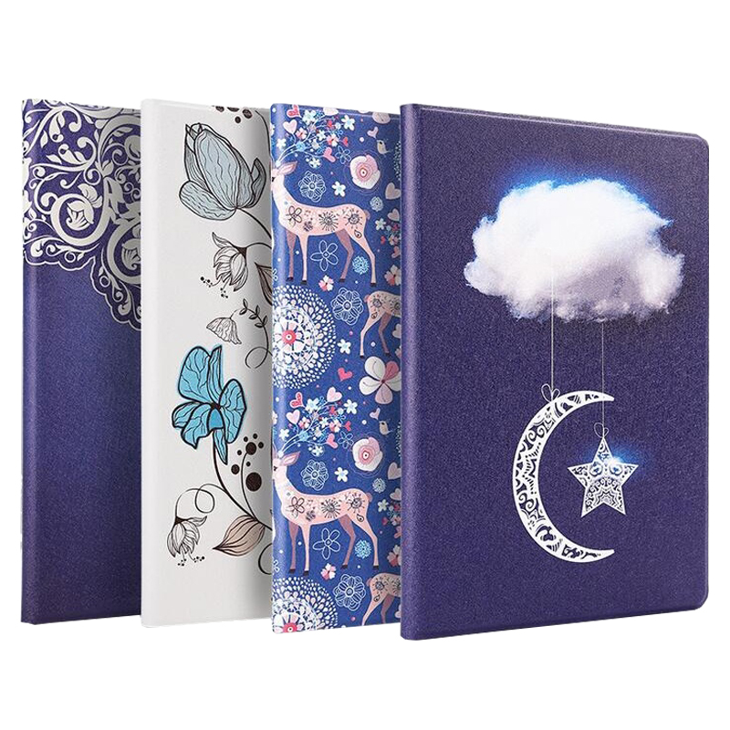 Case for iPad mini 4 Slim Smart PU Leather Sleeve for iPad mini 4 Case Cute Painted PC Back Cover A1538 A1550 with gift