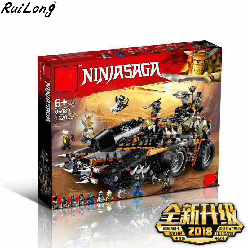 New Ninja Series Stormbringer Dieselnaut Set Buidling Compatible With LegoINGLY Ninjagoes 70654 Blocks Bricks Educational Toys