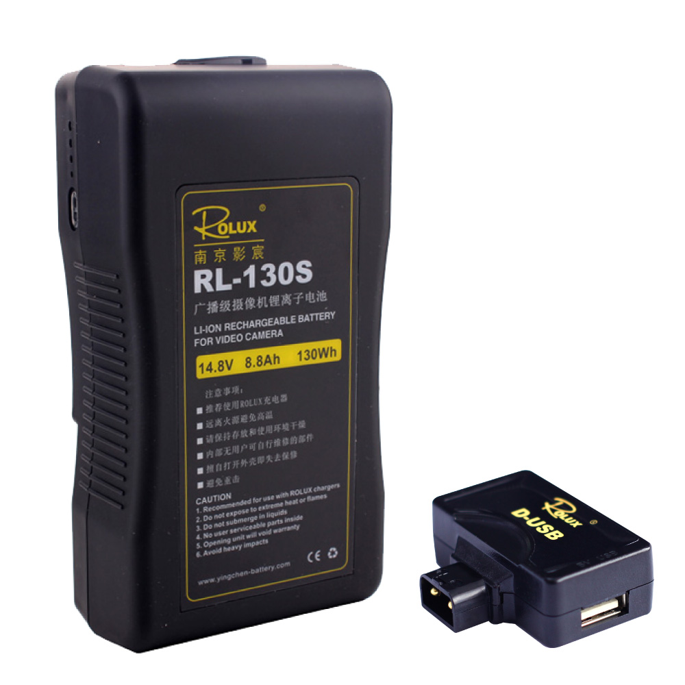 Fotoconic Rolux RL-130S 130Wh 14.8V 8.8Ah Li-ion S0ny V-mount Lock Rechargeable Battery