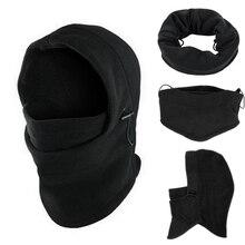 6 в 1 Балаклава для шеи зимняя шапка для лица флисовый капюшон Лыжная маска теплый шлем