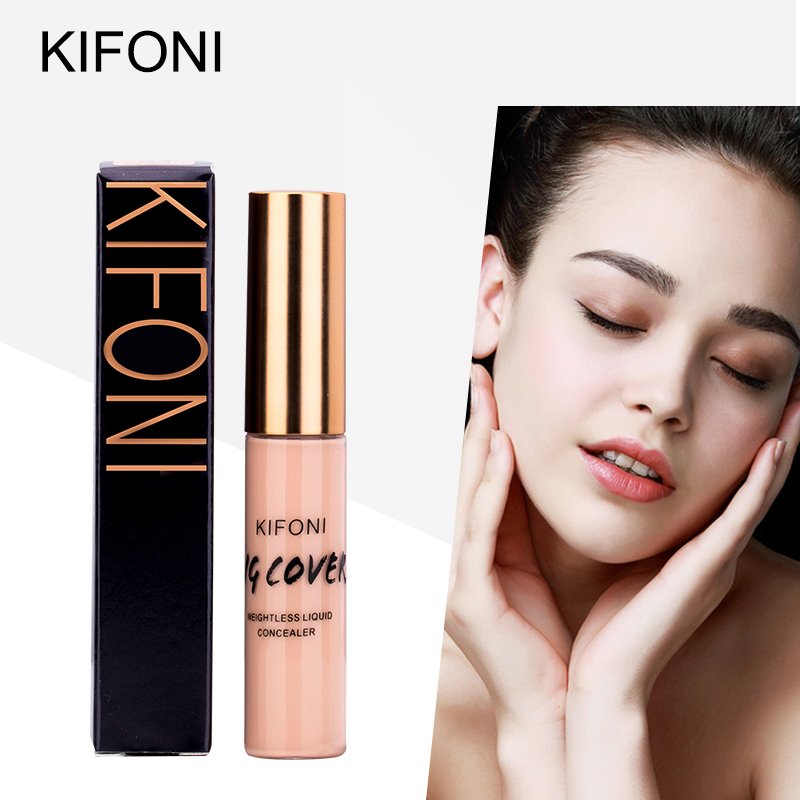 KIFONI Full Cover Makeup Liquid Concealer Cream Face Corrector Liquid Make Up Base For Eye Dark Circles Facial Natural Cosmetic