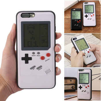 Gameboy Tetris Phone Cases for iPhone X 6plus 6s 7 7plus 8 8plus Play Blokus Game Console Cover Tetris game boy phone Case