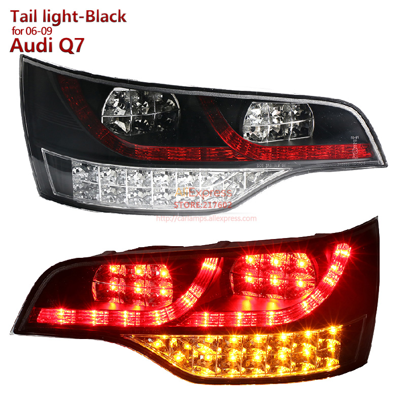 SONAR Brand for Audi Q7 LED Tail lights Assembly fit for 2006-2009 year Black Housing High Quality and fitment Rear Lamps купить ауди q 5 2009