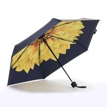 접는 우산, 우산 비 여성 접는 자외선 보호 우산 미니 반 접는 bumbershoot 패션 인쇄 우산