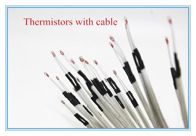 1 шт. 3d частей принтера 100 К ом NTC 3950 Термисторы с кабель для 3D Принтера ПАНДУСЫ 1.4 A4988 Reprap Mend MK2B HEATBED