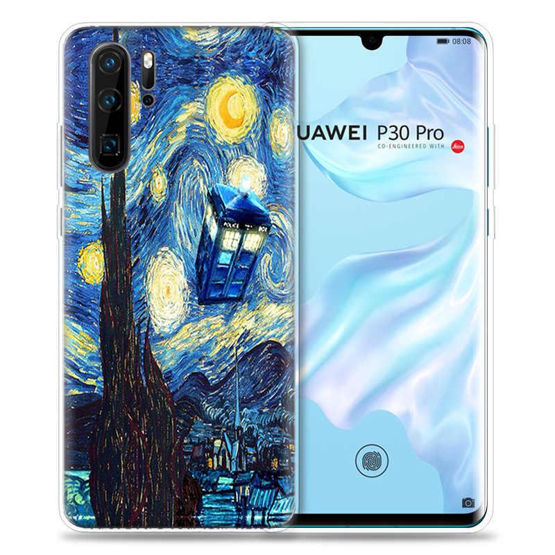 Box Doctor Who van gogh Case for Huawei P20 P30 P Smart Z Plus Nova 5 5i P10 P9 Mate 10 20 lite Pro Silicone Phone Bags Capa