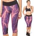 3D flash leggings nueva moda cintura pantalones de entrenamiento ropa de impresión de alta elástico leggins