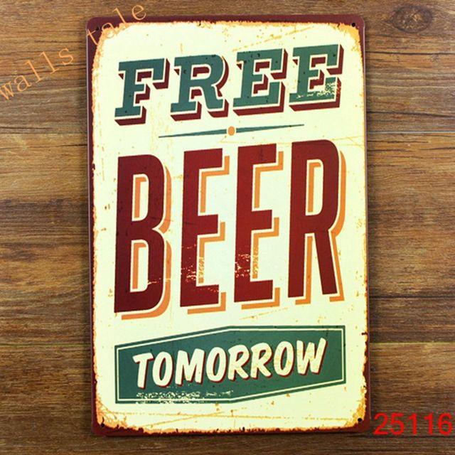 funny metal tin sign for bar pub wall decor metal wall art bar sign - Bar Wall Decor
