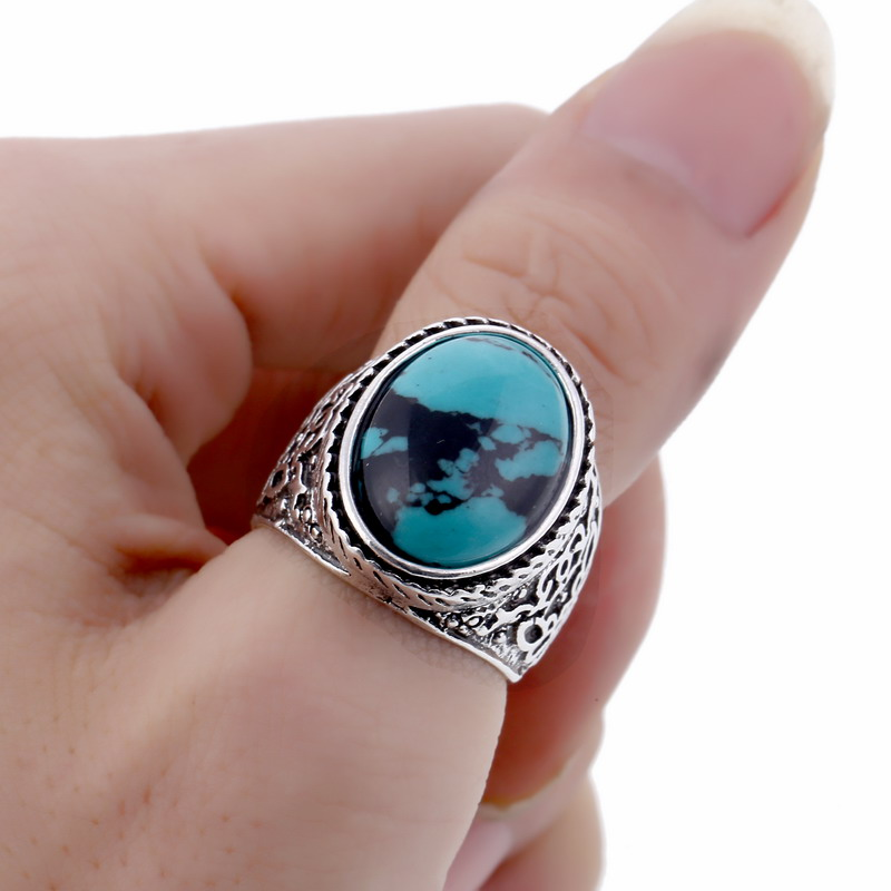 LOVBEAFAS Boho Antique Silver Rings For Women Wedding Carved Vintage Bijoux Simple High Quality Wholesale 2018 Fashion Jewelry