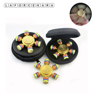 2017 Six Stigma DIY Hand Spinner Ceramic Ball Reduce Stress Desk Focus EDC Fidget Toy ADHD