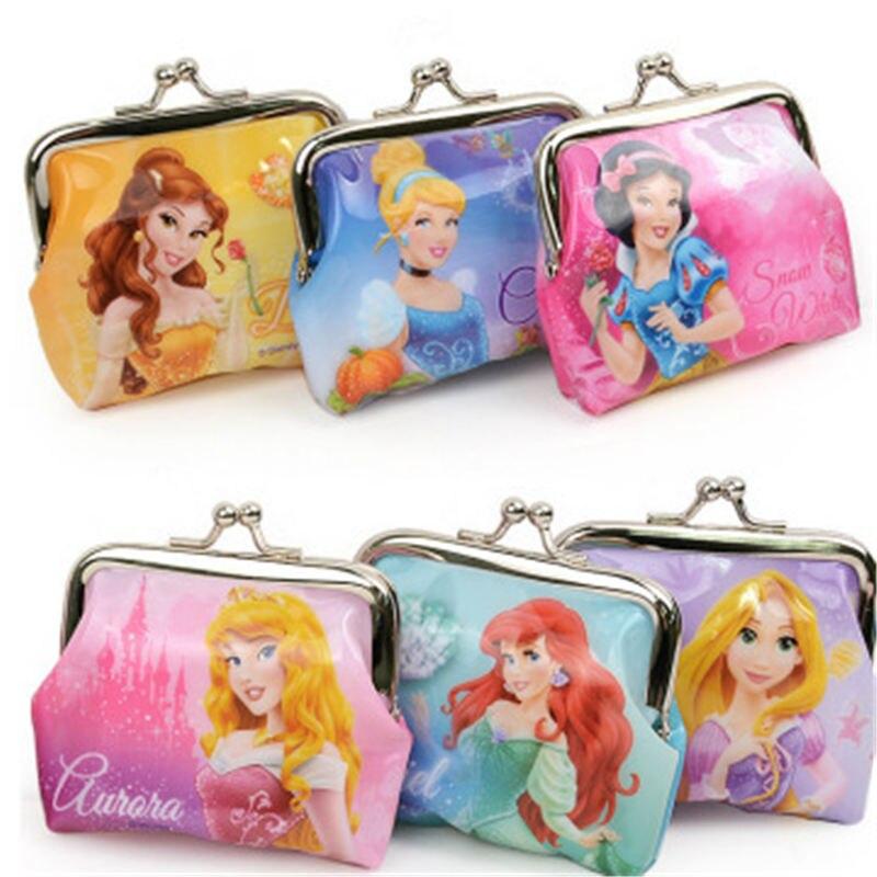 Детский кошелек с монетницей Disney Minnie, маленькая сумочка принцессы Софии из мультфильма «Принцесса» для девочек