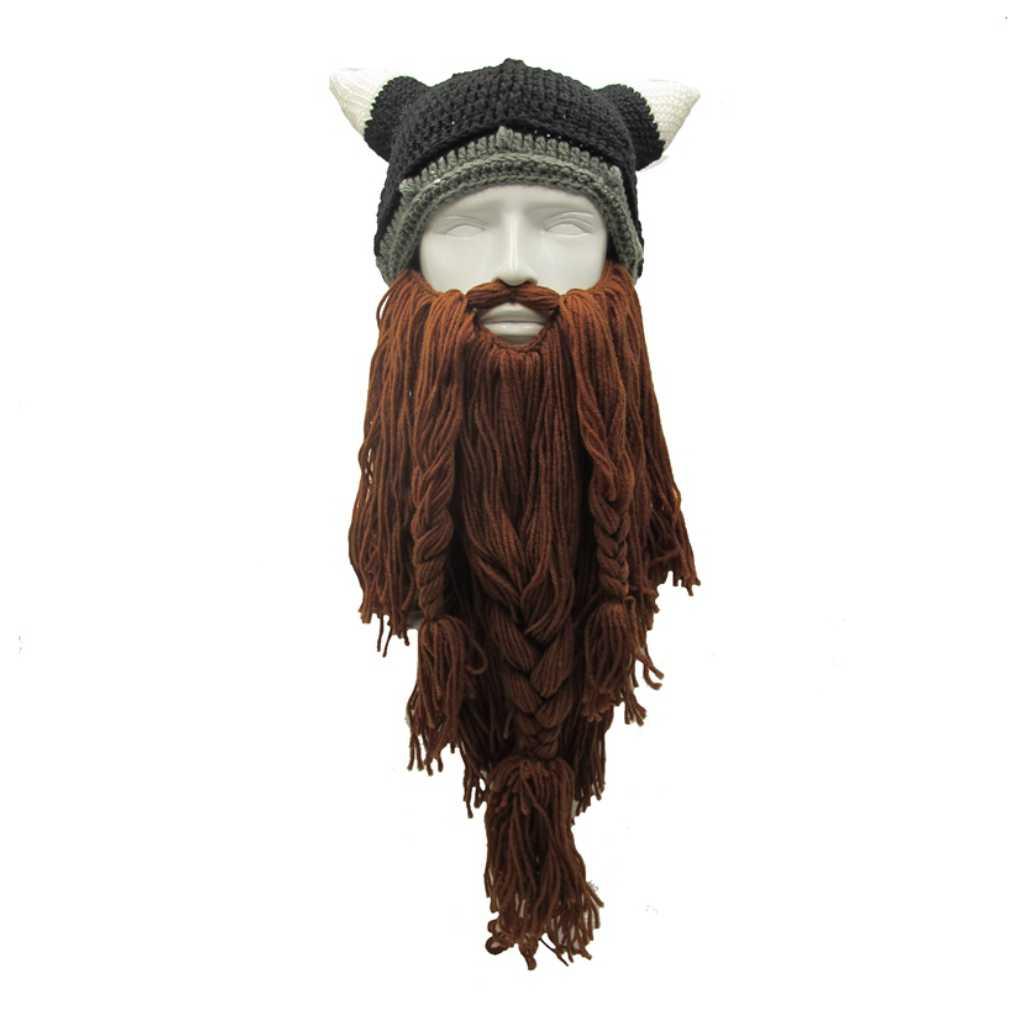 Funny Man Vikings Beanies Knit Hats Bear