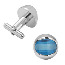 Men's shirts Cufflinks high-quality copper material  Blue Crystal Cufflinks 2 pairs of packaging for sale