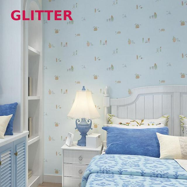 roze kleur kinderkamer cartoon behang lichtgroen cartoon behang voor kinderkamer baby slaapkamer behang interieur