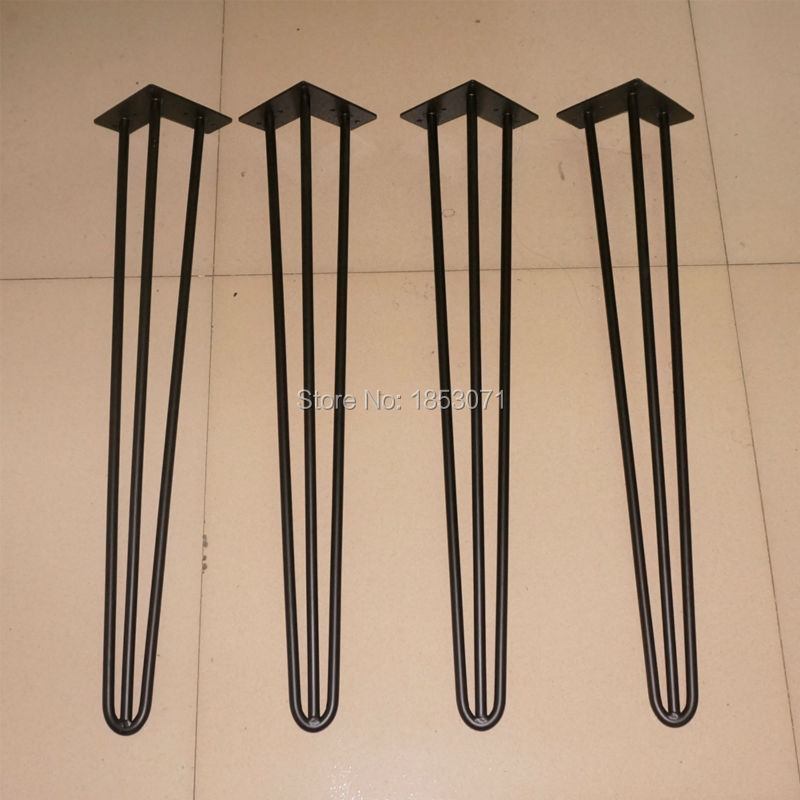 Matte black color Hairpin Legs 28inch, Hot sale dining table legs, DIY your own hairpin Legs table, new collection Hairpin Legs 30cm black silver metal hairpin table legs 2 rod set of 4 mid century modern furniture for diy cabinet and table legs