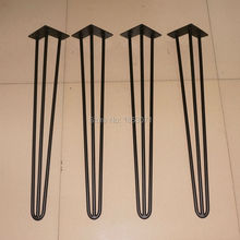 Matte black color Hairpin Legs 28inch, Hot sale dining table legs, DIY your own hairpin Legs table, new collection Hairpin Legs(China)
