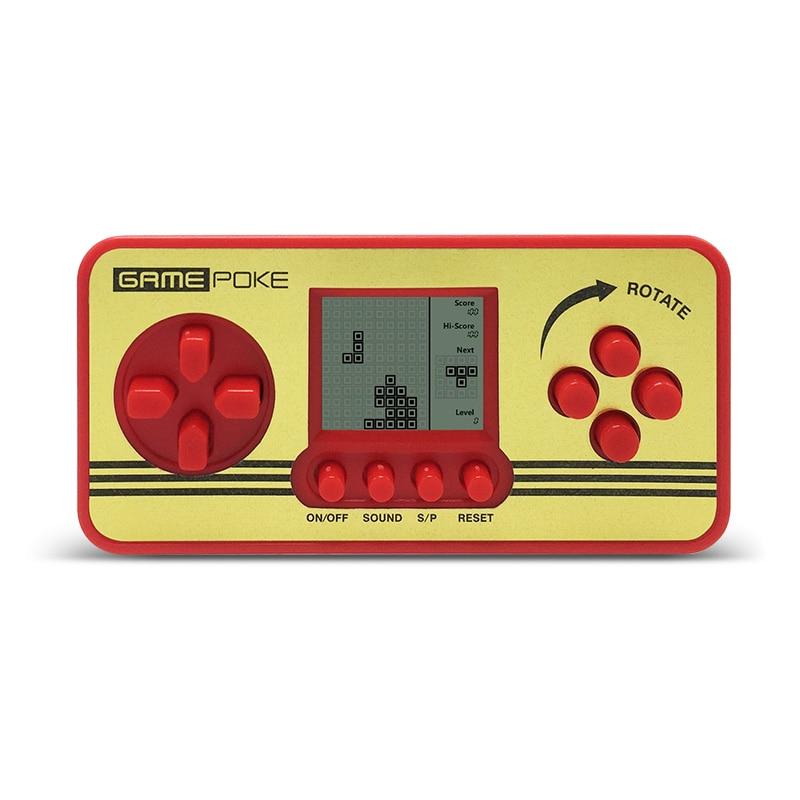 Электронные игры детей классической игры игроки Портативный дети тетрис игровой консоли встроенный 23 игры игрушки Тетрис