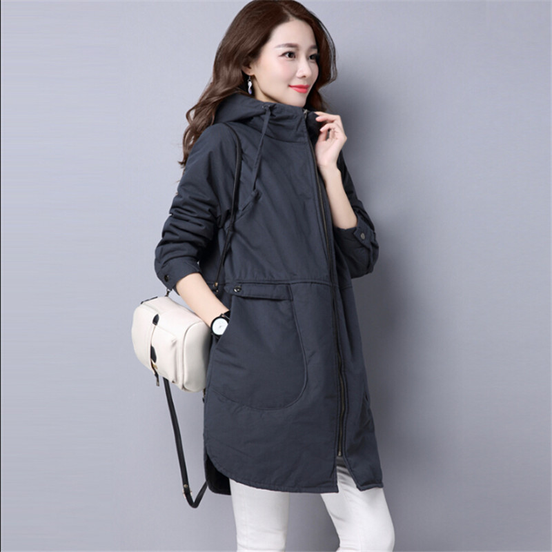 Women Thin   Parka   Autumn Spring Jackets And Coats Long Fashion Casual Outwear Spliced Coats Women Jaqueta Feminina Inverno A3331