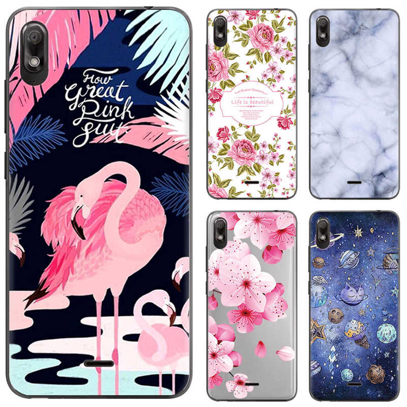 Coque Wiko View 2 go cases silicone funda Wiko View 2 go cover soft TPU flower cute unicorn marble case for wiko view 2 go capas