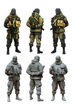 [Tuskmodel] 1 35 набор модели, фигурки русских воинов e4