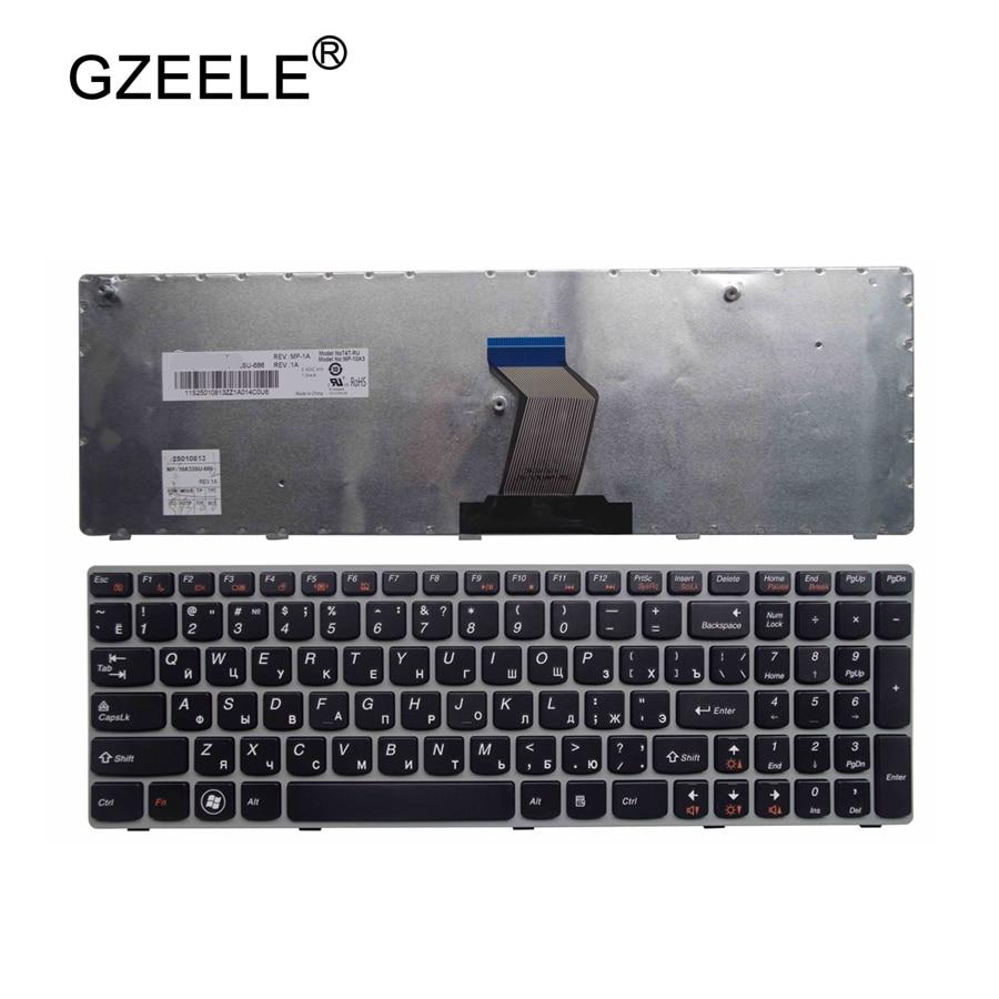 Клавиатура для ноутбука GZEELE RU для LENOVO G570 G575 Z560 Z560A Z560G Z565 G570AH G570G G575AC G575AL G575GL G770 G560 русская RU