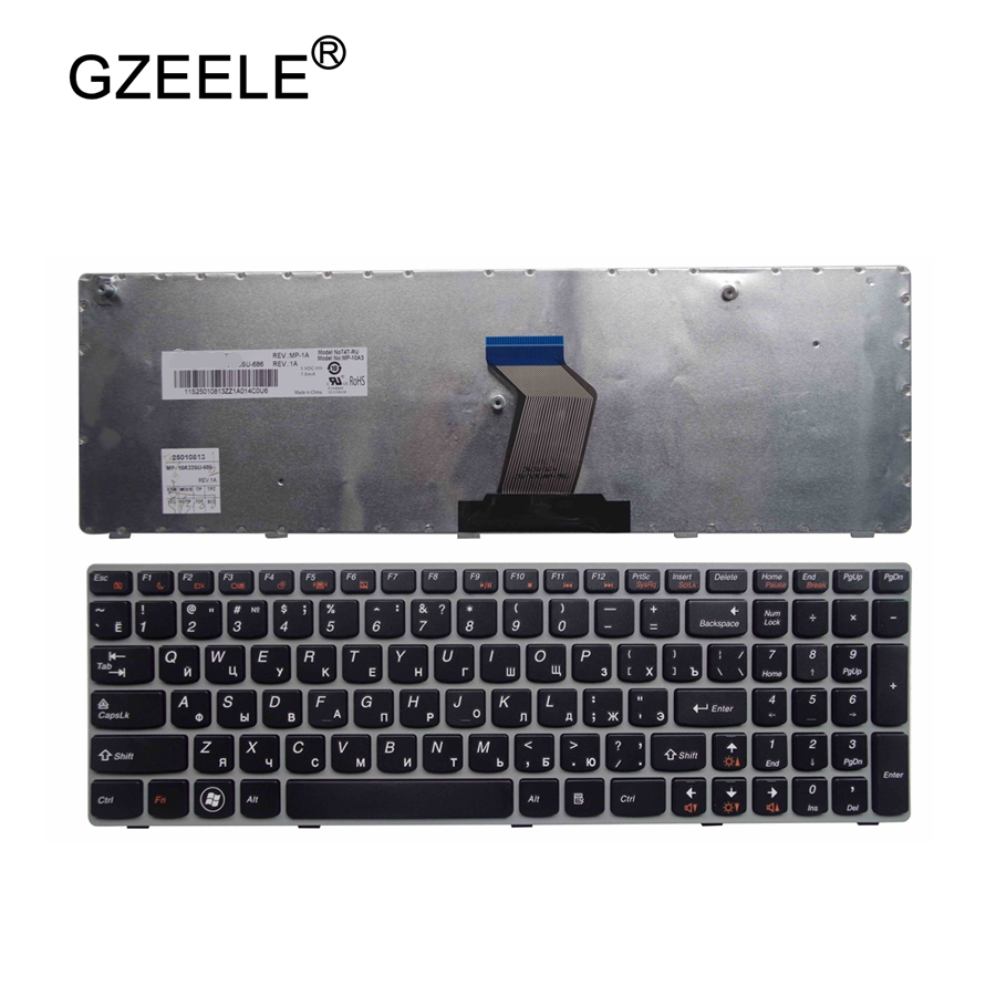 GZEELE RU Laptop Keyboard For LENOVO G570 G575 Z560 Z560A Z560G Z565 G570AH G570G G575AC G575AL G575GL G770 G560 Russian RU