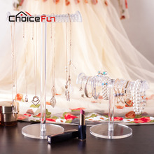 CHOICEFUN Short T-Bar Bracelet Display Stand Chain Holder Rack Jewelry Display Organizer Holder Packaging SF-8101/8100