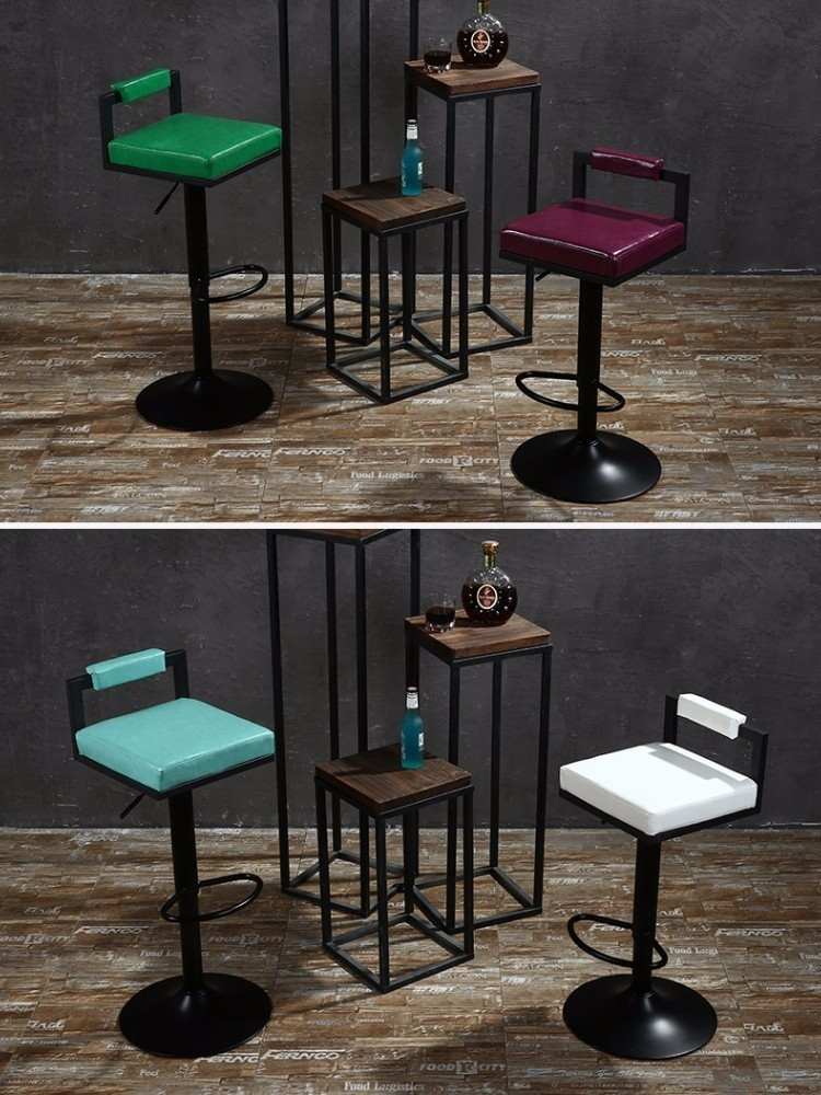 все цены на  Europe and America Country Bar Stool Garden terrace coffee chair free shipping green white purple color seat  онлайн