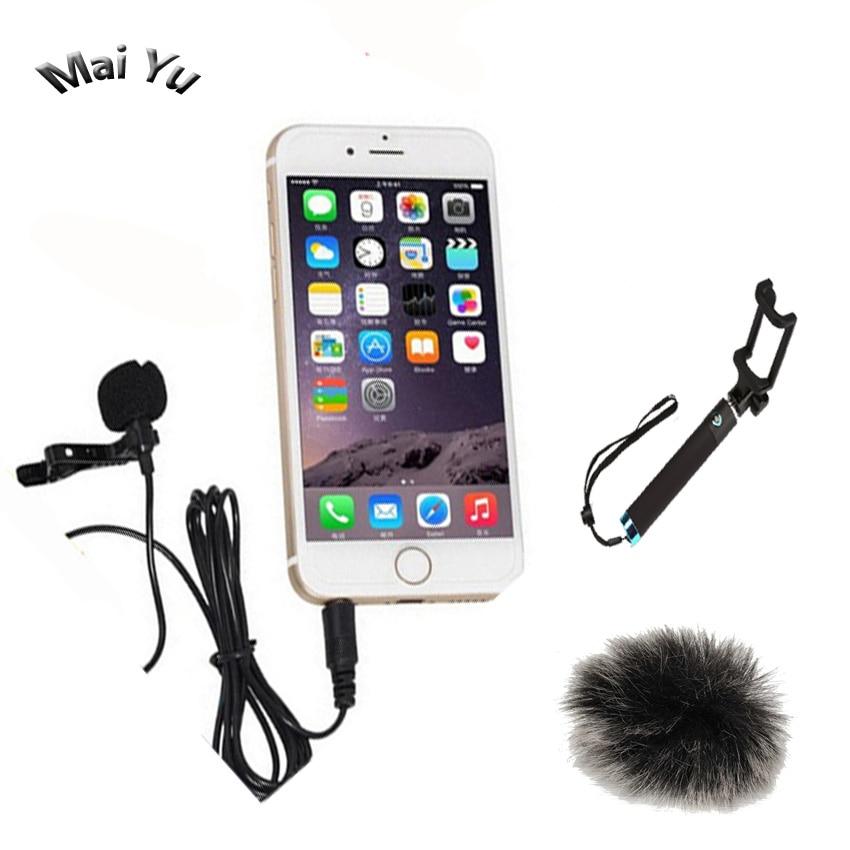 Lapel Telefon mobil Microfon Condensator Lavalier Microfone pentru - Audio și video portabile