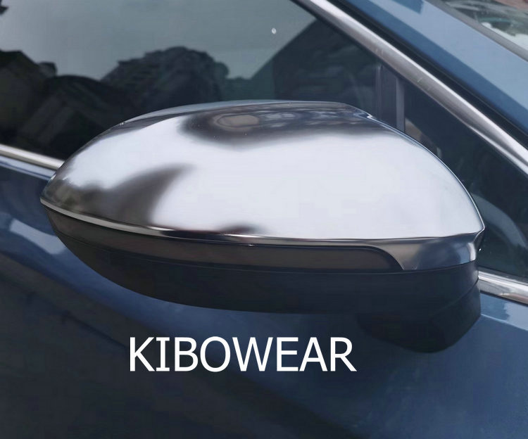 Kibowear for Volkswagen Passat B8 Variant Arteon Chrome brushed Side Wing Mirror Covers Caps Silver Matte