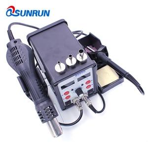 Image 5 - QSUNRUN 700W 220V 8586D 2 W 1 Hot wiatrówka i lutownica automatyczna stacja rozlutownicy z podwójnym wyświetlaczem cyfrowym