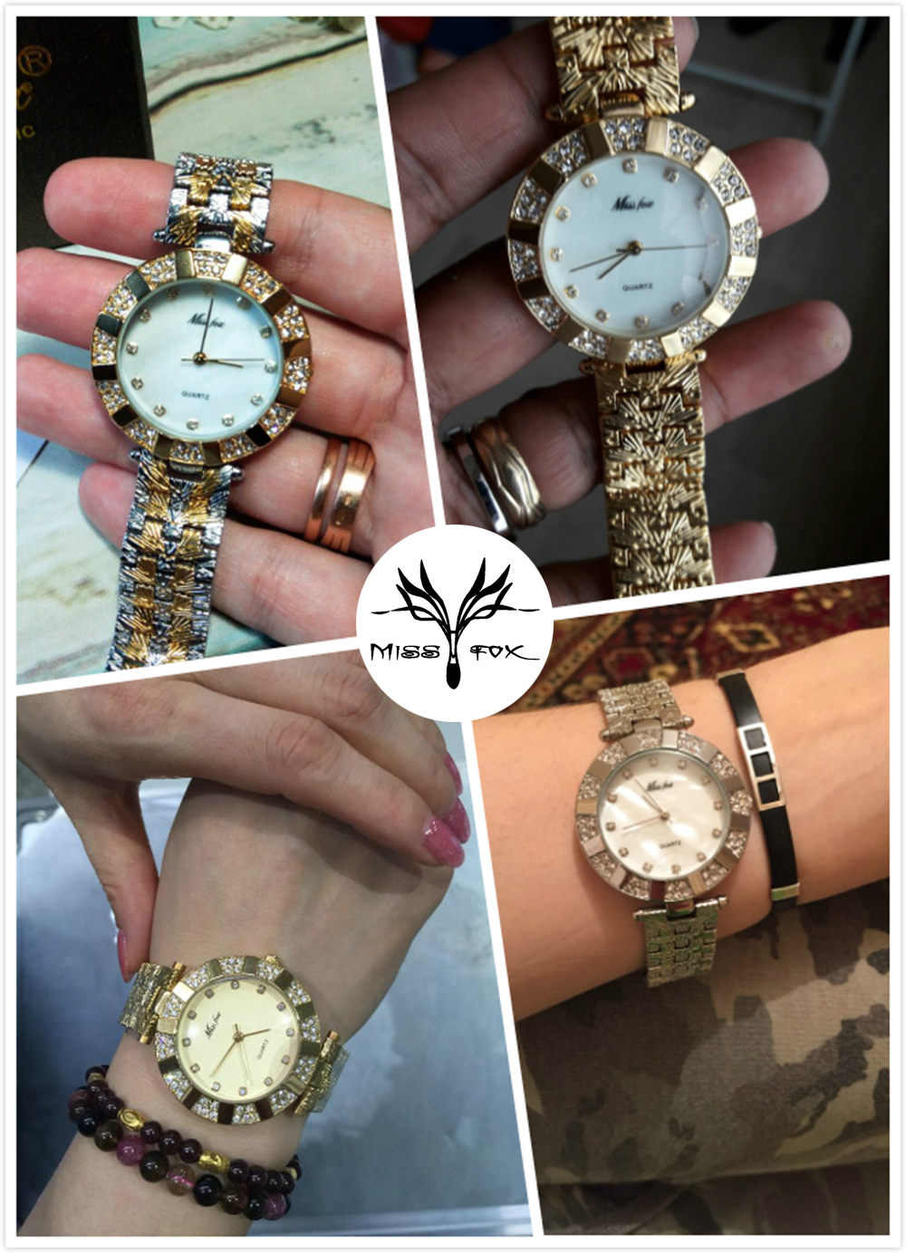 50cc77814b5 Fashion Casual Ladies Gold Watch Quartz Simple Clock Relogio ...