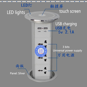 Image 1 - Pantalla táctil de potencia Universal, elevador inteligente para cocina, alta calidad, hogar, multifunción oculta, enchufe de escritorio, carga por USB de oficina
