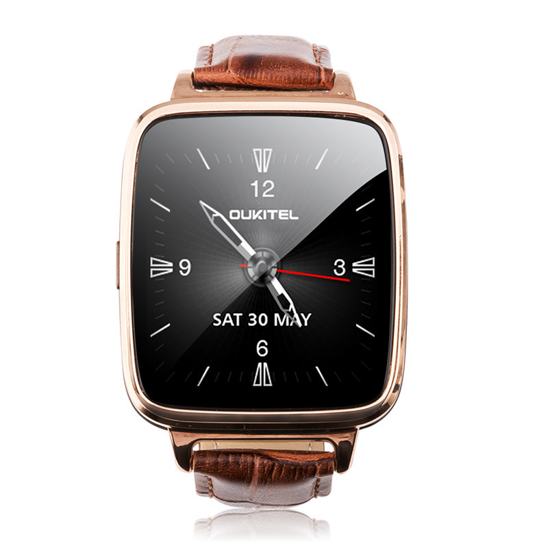 2015 Fashion Luxury Genuine Leather font b Smartwatch b font Wristband Bluetooth Smart Watch M28 For