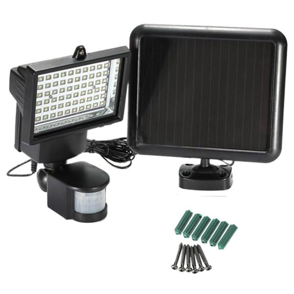 SPOTLIGHT 60 LED SOLAR WHITE LIGHT lamp Spotlight Garden MOTION SENSOR