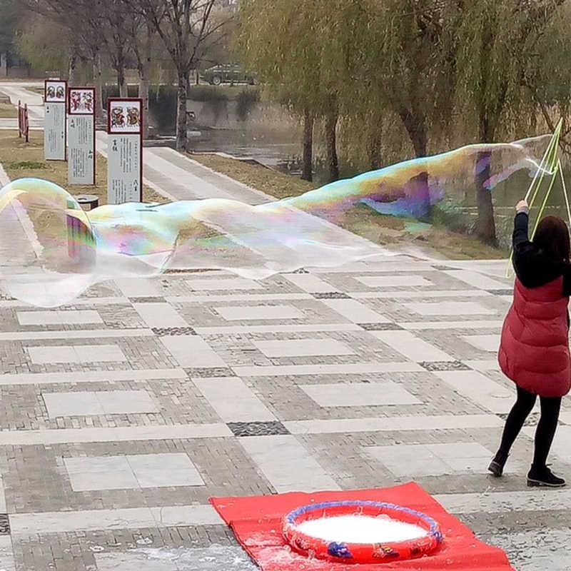 Пузырьковая машина большого размера, регулируемый пузырьковый канат, игрушки для детей, девочек, мальчиков, взрослых, для игр на открытом воздухе