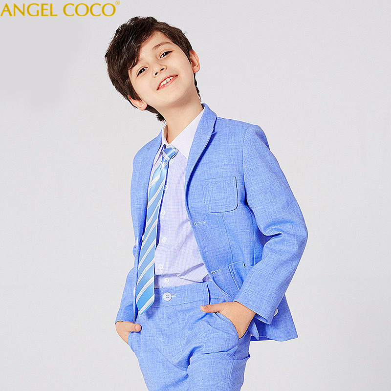 Nimble Boys Suits for Weddings New Arrival Solid Blue Boys Wedding Suit Formal Suit For Boy Kids Wedding Suits Blazer Boy Garcon 2018 new arrival boy suits england style boys blazer long sleeve plaid for kids clothes