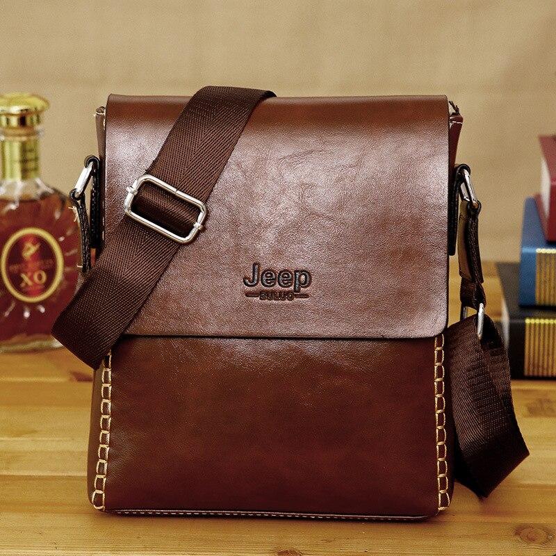 ba277070d5 JEEP 2018 Famous Brands Men Messenger Bags Top Leather Bag Briefcase  Designer High Quality Shoulder Bag Promotional on Aliexpress.com