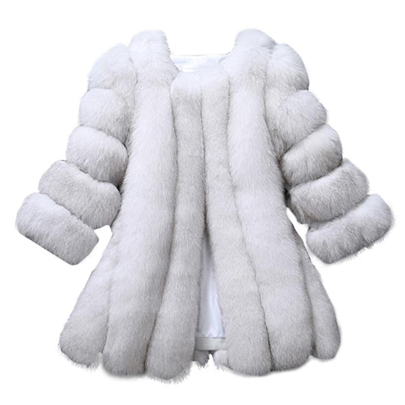 2019 New Direct Selling Fur Single Three Quarter Regular O neck Fur Vest Coat Finland Coat Seven Quarter And Long