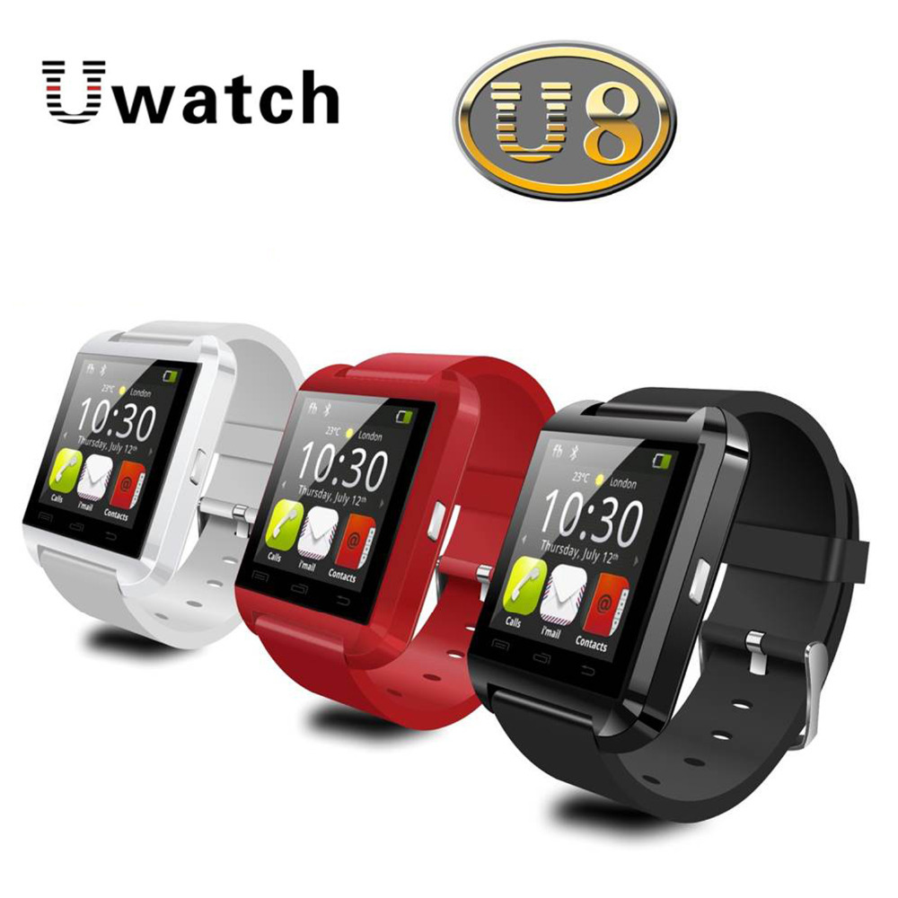Fashion Bluetooth Smart Watch WristWatch U8 U Watch for Samsung S4 5 Note2 3 4 HTC LG Huawei ect. Android Phone Smartphones