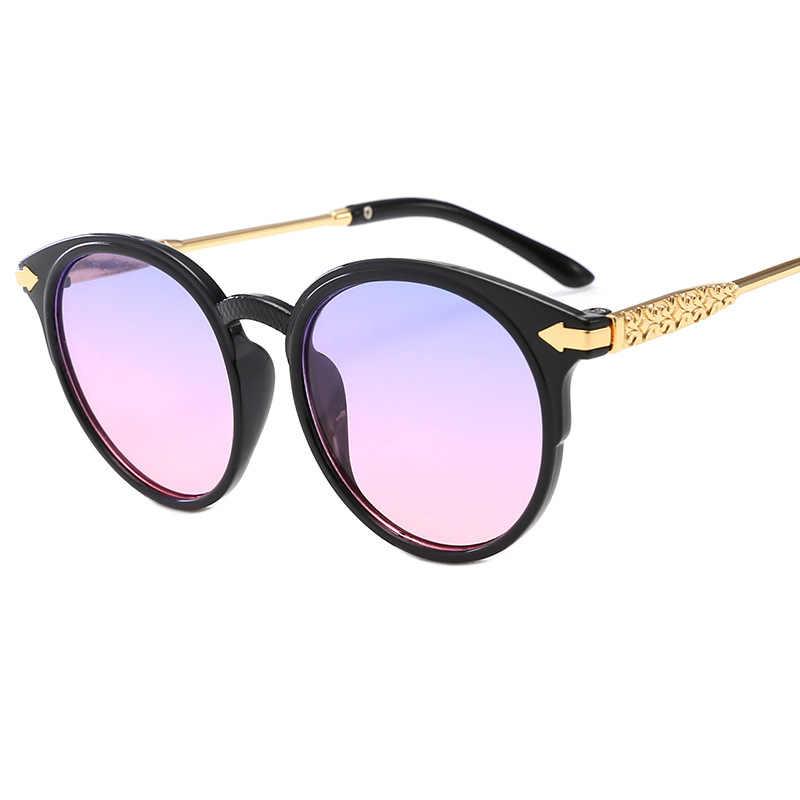 От 3 до 8 лет очки детские 2019 новая модель симпатичная Овальные Солнцезащитные очки ребенок Золотой очки со стрелками для мальчиков и девочек детские очки n321