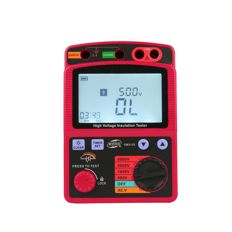 Image 3 - LCD High Voltage Insulation Tester Portable Digital Insulation Resistance Meter 600V DC/AC Voltage Tester Auto Discharge GM3125tester electricitytester peugeottester paper -