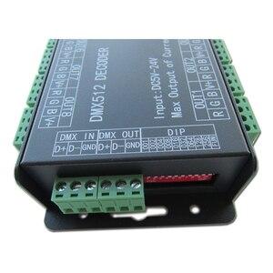 Image 4 - وحدة تحكم عالية الطاقة 24 قناة 3A/CH DMX512 Led فك باهتة DMX 512 RGB LED قطاع تحكم DMX فك باهتة سائق ل