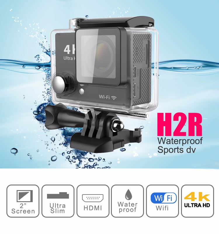 ФОТО super 4k wifi action camera with 2.0'' TFT display and 170 degree wide angle sports camera/waterproof camera with remoter