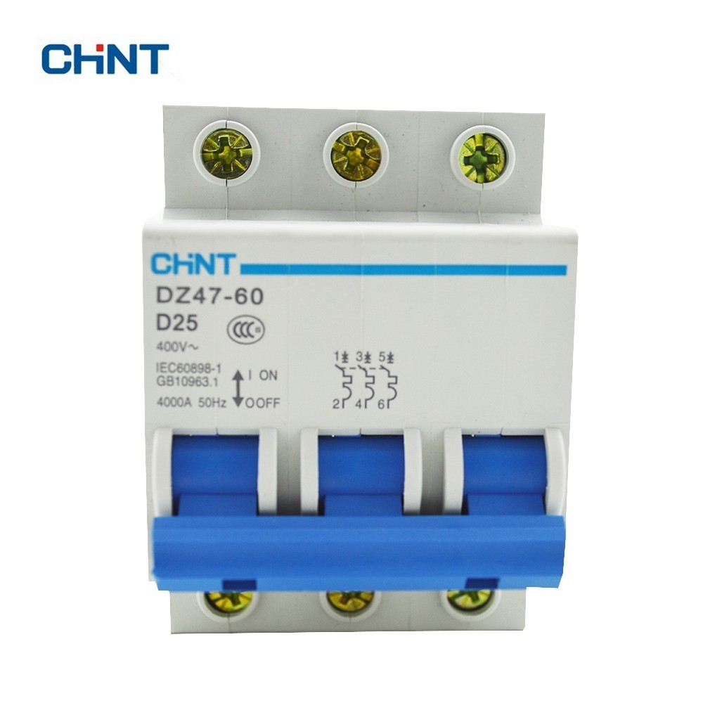 Chint D Type 25a Circuit Breaker Dz47 60 3p D25 In Circuit