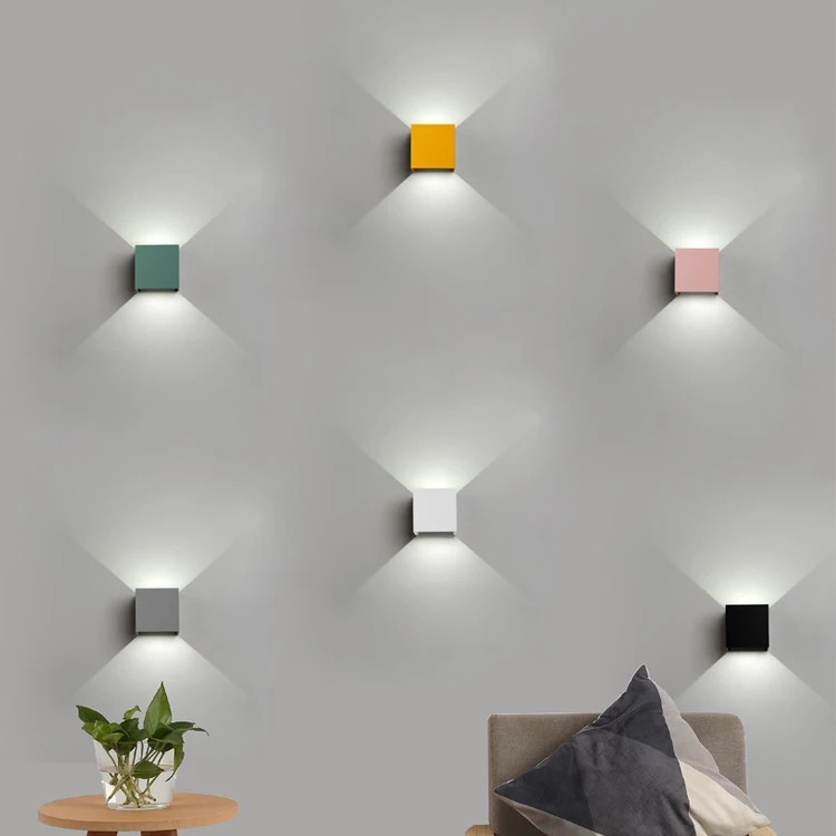 Colorful Macaroon Indoor Outdoor Led Wall Lights Parlor Bedroom Wall Lamp Aisle Stairs Corridor Wall Sconce