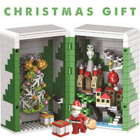 Creator Series Christmas Box Building Blocks LegoINGLY Friends Santa Claus Figures Educational Bricks Kits Toys Christmas gifts